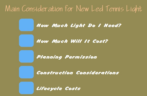 consideration for new led tennis